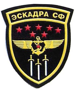 Sleeve patch for the 7th operative air squadron of the Northern Fleet. 3x4 inch.