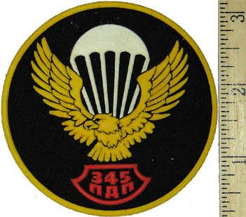 Sleeve Patch for 345 Airborne Regiment.
