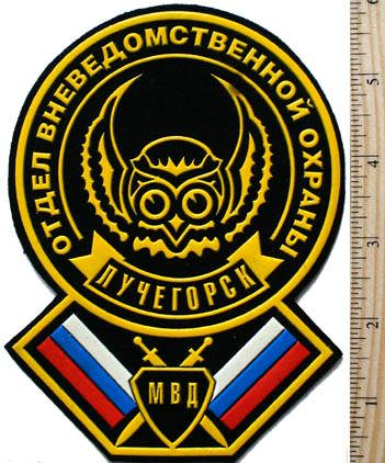 Town of Luchegorsk. MVD department of nondepartmental security.