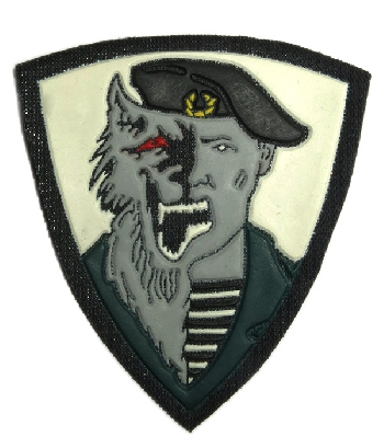 Patch for Spetsnaz Unit Werewolf. Black.