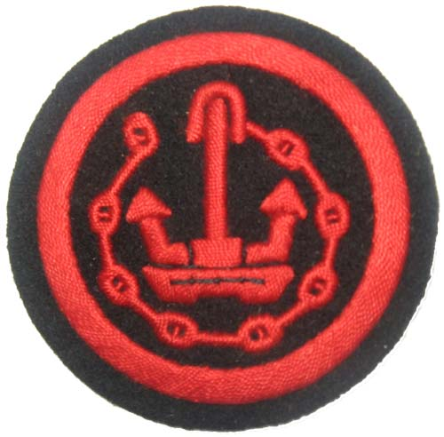 Boatswain (bootsmann) crew patch. 2.5 inches.
