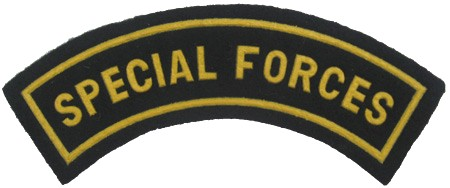 Special forces patch 4.5 x 1.2 inches